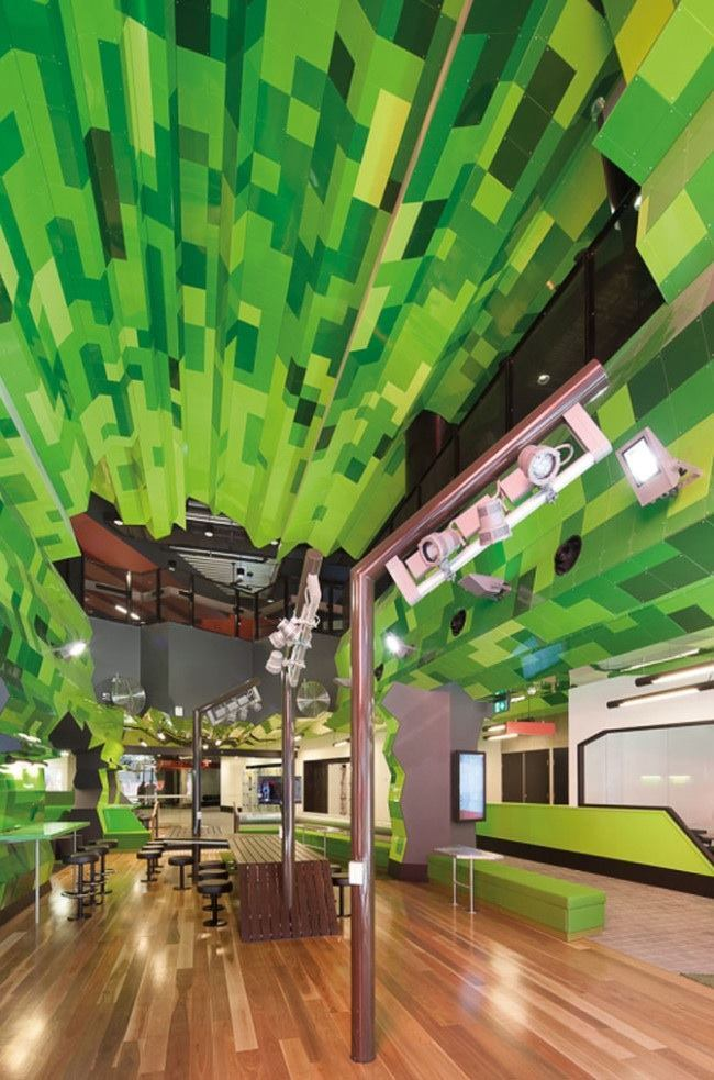 The RMIT Swanston Academic Building Showing An Interior Study Space Invigorating Or Merely Vigorous