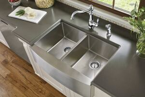 Moen S 1800 Series Sinks Feature 18 Gauge Stainless Steel With 90 Degree Corners In Single Double Equal Offset And Prep Configurations Both