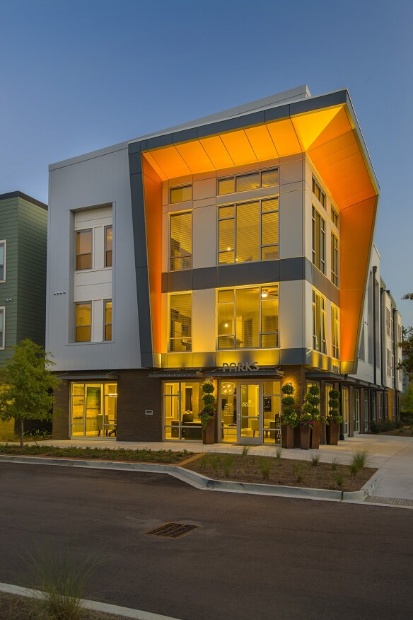 exterior elevation, low-rise, master plan, master-planned community, mixed-use, mixed product, Charleston
