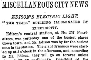 This Day In Lighting History Sept 4 1882 Architectural Lighting