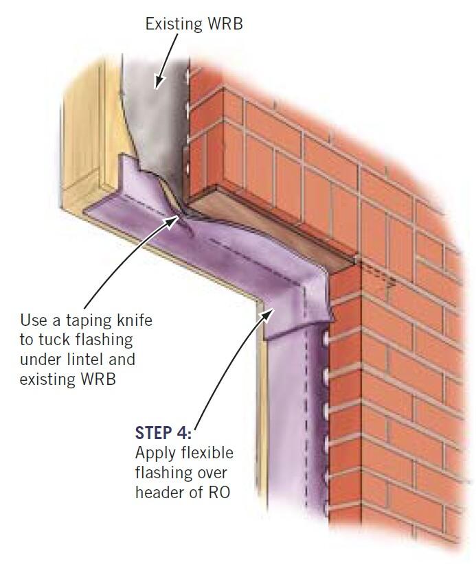 Fireproof Four Inch Masonry Brick Panel : Replacing windows in brick veneer homes jlc online