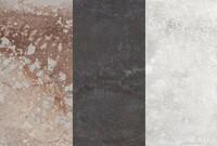 Three Quartz Surfaces that Mimic Concrete