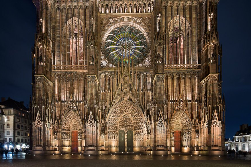 Strasbourg cathedral architect magazine awards lighting