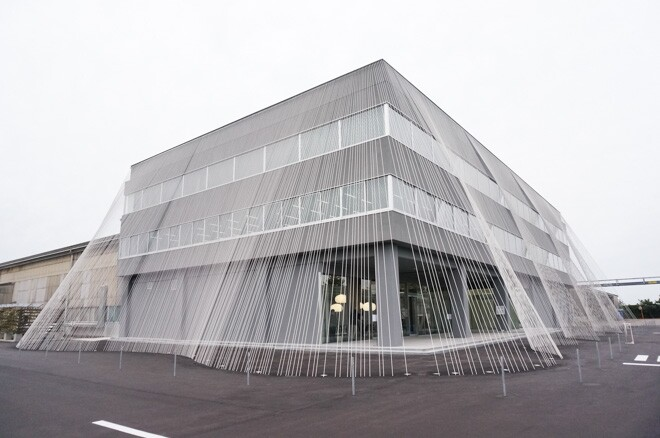 An Earthquake-Resistant Building Made with Carbon Fabric