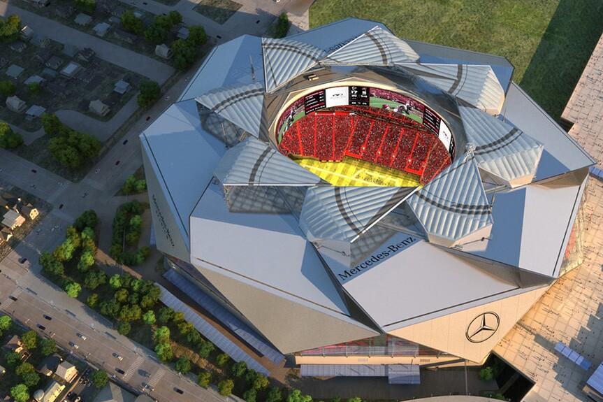 8ff4c23e HOK's Mercedes-Benz Stadium Opens on August 26 | Architect Magazine