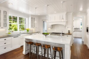 new home design trends. 2018 Home Design Trend Predictions from Houzz  White Kitchen Interior with Island Sink Cabinets and Hardwood Floors in New Luxury Announces Builder