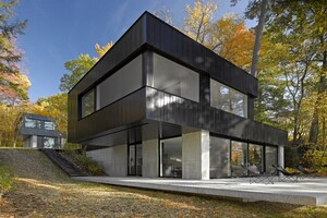 Cantilever House   Architect Magazine   Birdseye Design, Leicester on modern cantilevered house, modern home narrow lot house designs, cantilever steel beam design, modern lake house designs, modern house in mexico, bungalow flat roof houses design, incredible house design, cantilever roof design,