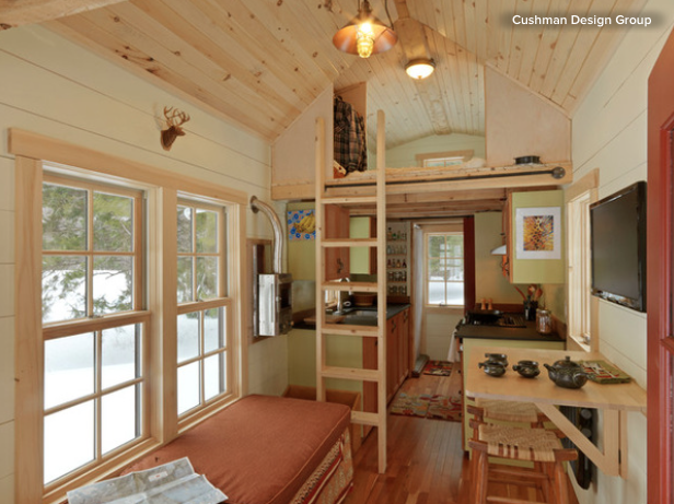 tiny house vermont. Waldman Took Downsizing Even More Literally, Building A 200 Square-foot Tiny Home In The Mountains Of Vermont House
