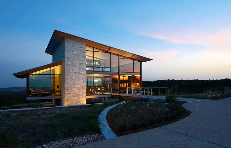 Gewinner Residence, Fredericksburg, TX Energy Architecture, Houston