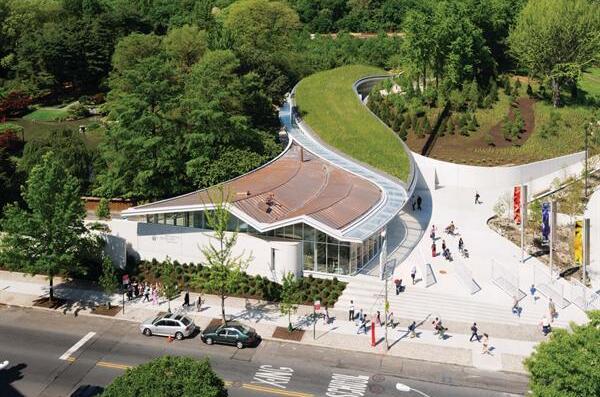 Brooklyn Botanic Garden Visitor Center Residential Architect Weiss Manfredi Architecture