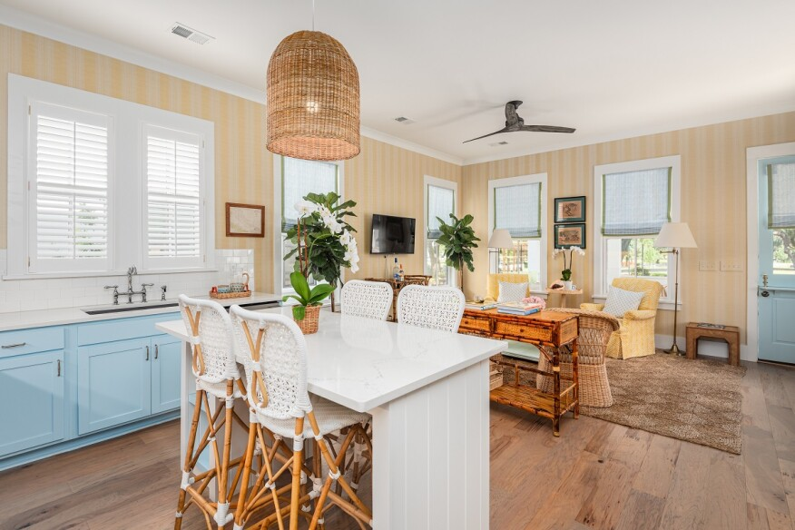 From the low country hardwood flooring to the Dutch door details, the cottages exude a sense of traditional Southern comfort.