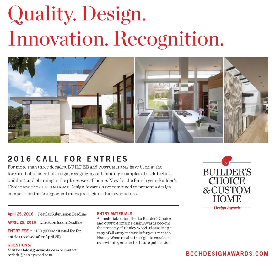 The Annual Awards Program That Honors Outstanding Residential Design Will Now Accept Entries Until May 6