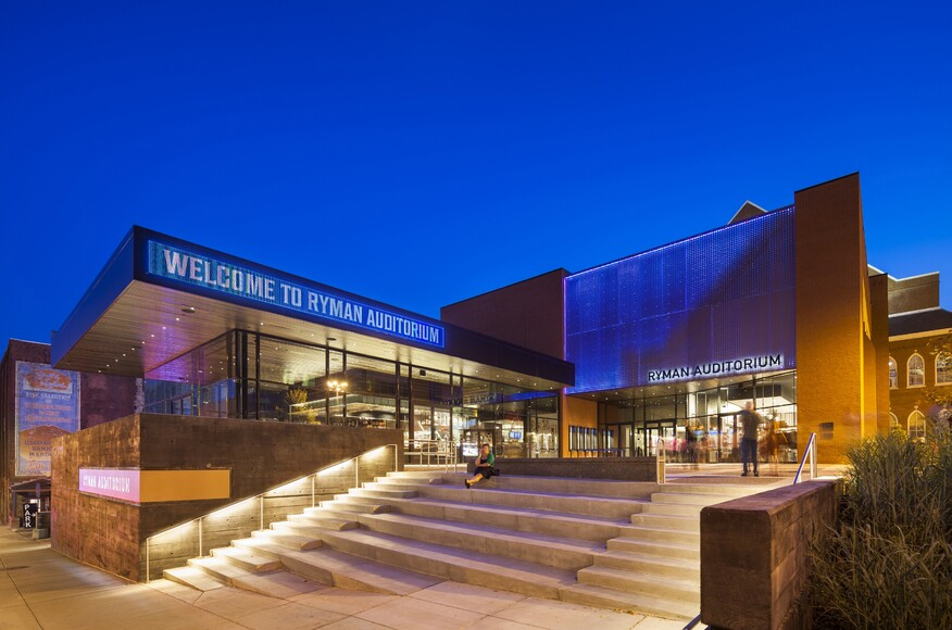 The ryman auditorium renovation and expansion for Renovation architecte