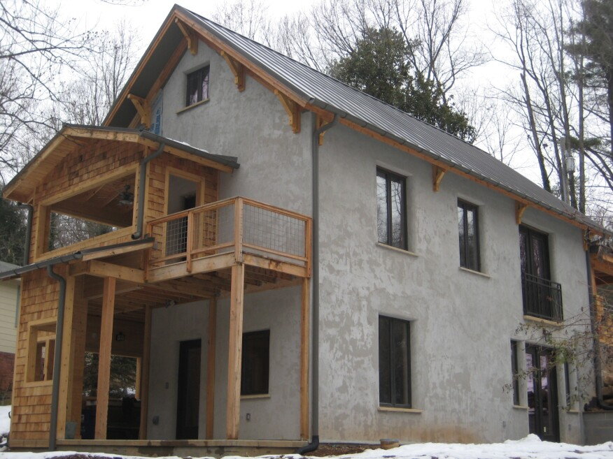 The NauHaus in Asheville, N.C. is made of hemp and available for rent via Airbnb.