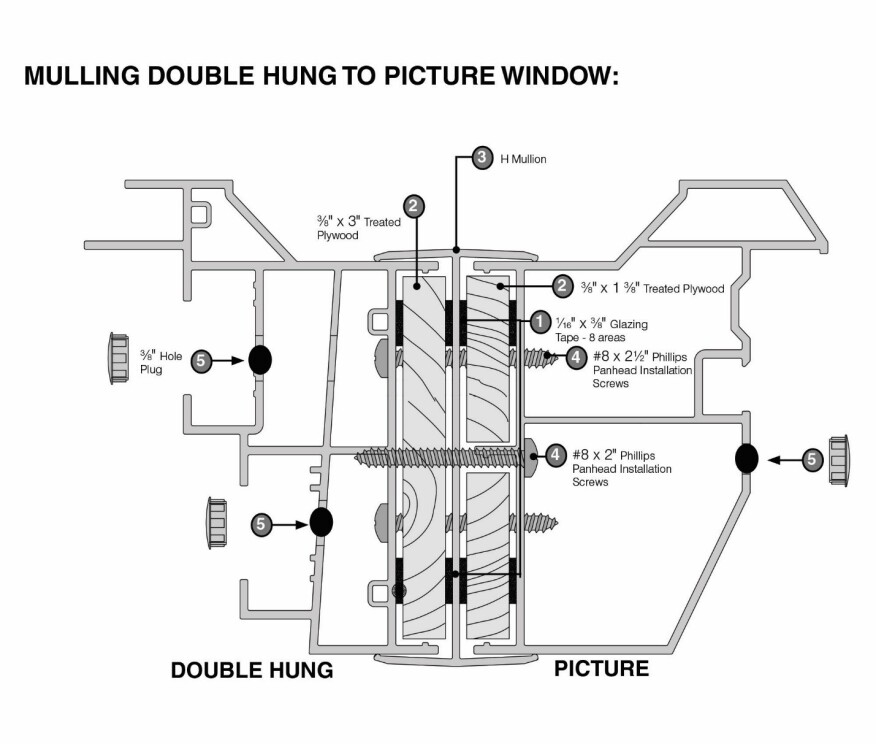 A Step By Step Guide For Mulling Vinyl Windows Jlc Online