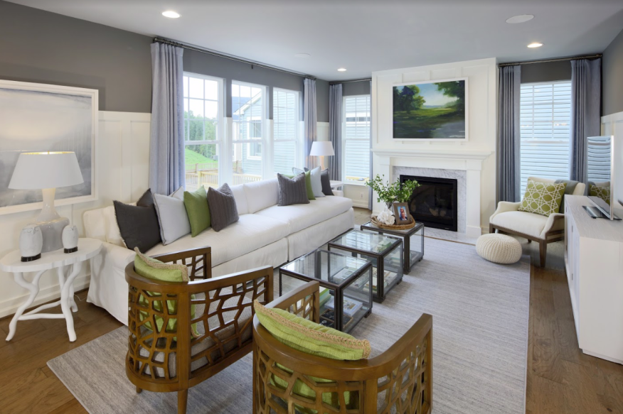 A Miller & Smith model home in the Embrey Mill community in Stafford, Va.