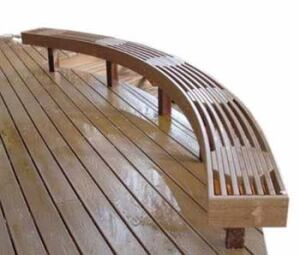 Profitable Curved Benches Professional Deck Builder Design