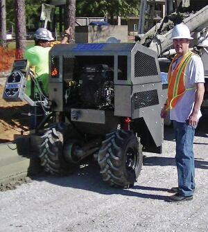 Slipform Curber From Phoenix Curb Machines Concrete