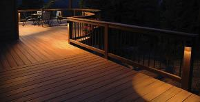 Lighting a deck professional deck builder outdoor rooms deck lighting should provide enough light for safety and ambiance but not enough to read byoto credit highpoint lighting aloadofball Choice Image