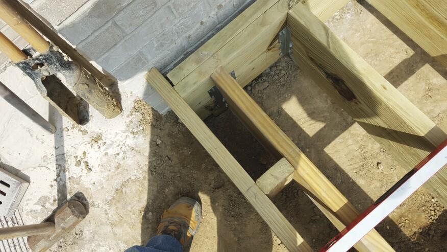 Adding a Deck to a Brick Veneer House   Professional Deck Builder ...