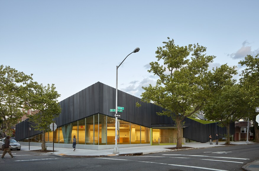 Kew gardens hills library architect magazine work for Architecture companies in nyc