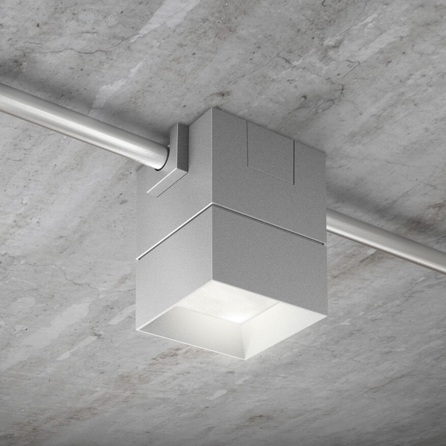 Beveled block usai lighting • this fixture is designed for direct installation onto a finished ceiling when recessed lighting is not possible