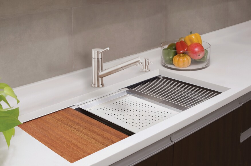 Lenova Ledge Prep Sink Brings Sleek Style, Functionality ...