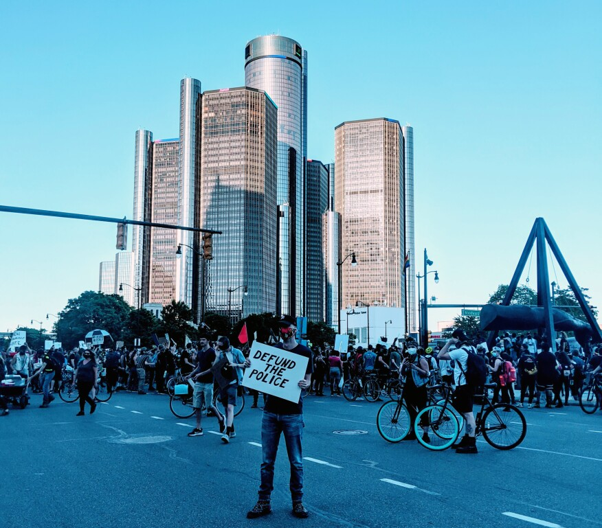 A June protest in Detroit