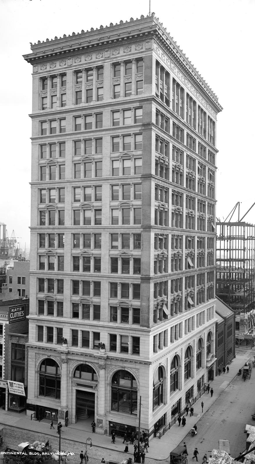 Le bâtiment Continental Trust à Baltimore