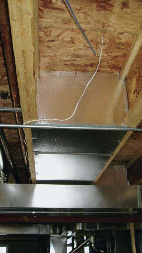 Panned Bays Jlc, Installing Return Air Duct In Basement