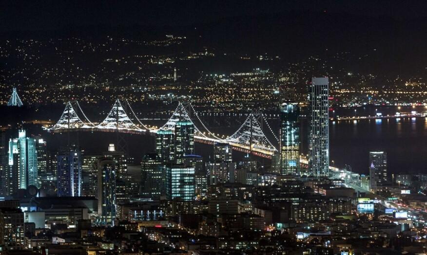 25,000 LEDs Light Up the San Francisco–Oakland Bay Bridge ...