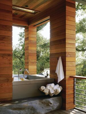 A Treehouse Tub Custom Home Magazine Detail Outdoor