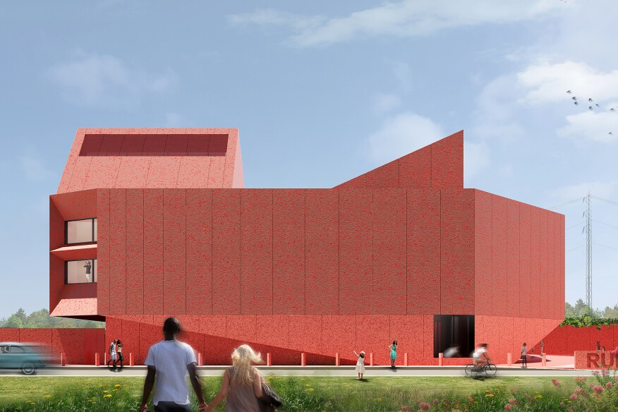 New renderings of ruby city by adjaye associates architect rendering of the new linda pace foundation building publicscrutiny Images
