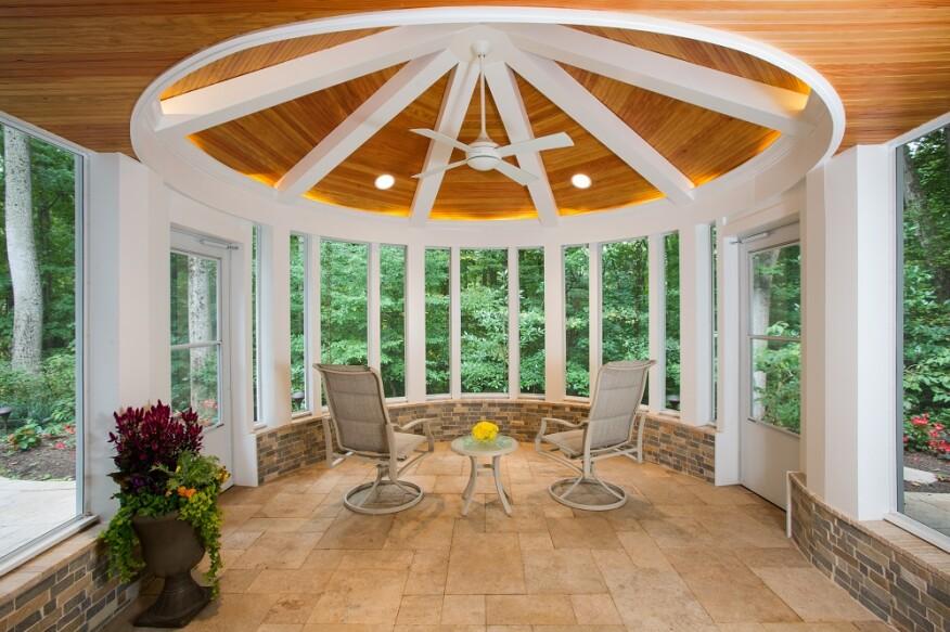 A Circular Screened Porch Professional Deck Builder Porches Design Outdoor Rooms