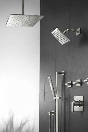 The California Faucets Square Ultra Thin Showerheads