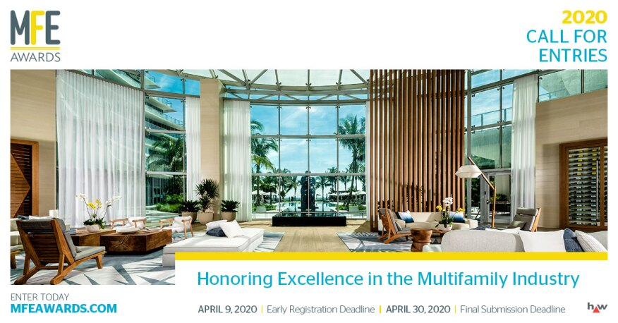 Call For Entries 2020 Mfe Awards Multifamily Executive Magazine