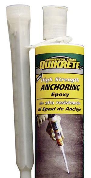 Rezi Weld Epoxy : Quikrete high strength anchoring epoxy concrete