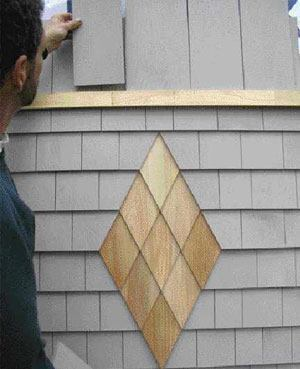 When I M Siding With Cedar Shingles Like To Give My Projects A Distinctive Look By Taking Advantage Of This Material S Unique Artistic Possibilities