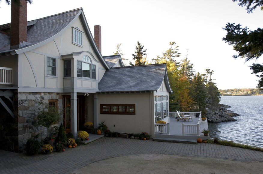 Renovation to a maine seaside home residential architect for Maine residential architects