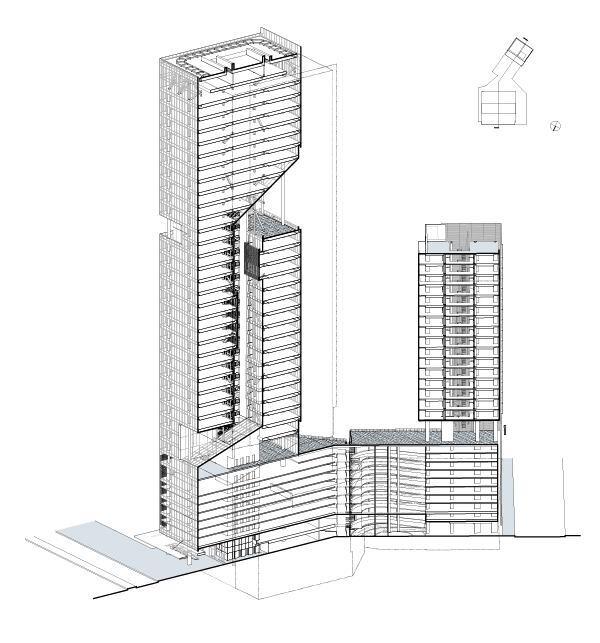 reforma towers  designed by richard meier  u0026 partners