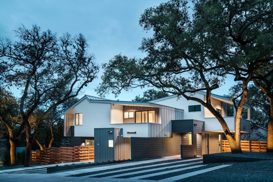 Series Of Treehouse Duplexes Debut In Austin Texas Builder