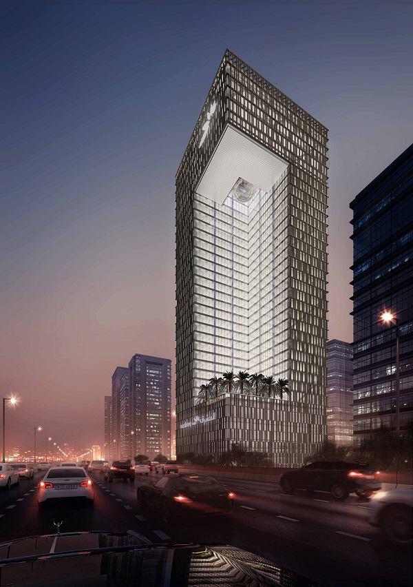 som to design mashreq bank headquarters in dubai architect