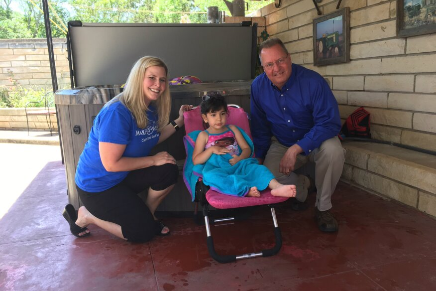 Make-A-Wish and Marquis Gift Hot Tub to Child with Rare Medical ...