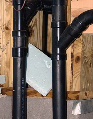 Limited Visibility Adhesive Joints For Abs Plastic Drainpipe Are Not As Visible The Purple
