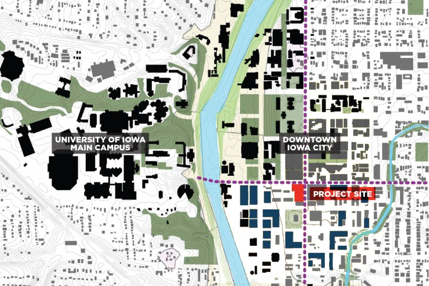 university of iowa map of campus University Of Iowa Voxman Music Building S Theatroacoustic Ceiling