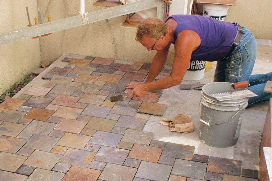 Outdoor Kitchen Tile Substrate