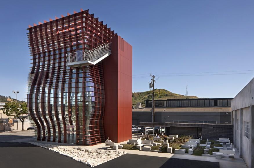 Vespertine architect magazine eric owen moss for Moss building design