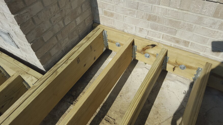 Fireproof Four Inch Masonry Brick Panel : Adding a deck to brick veneer house professional