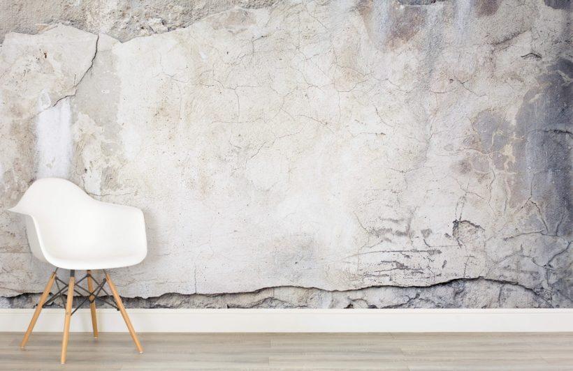 Murals Wallpaper In Cracked Concrete
