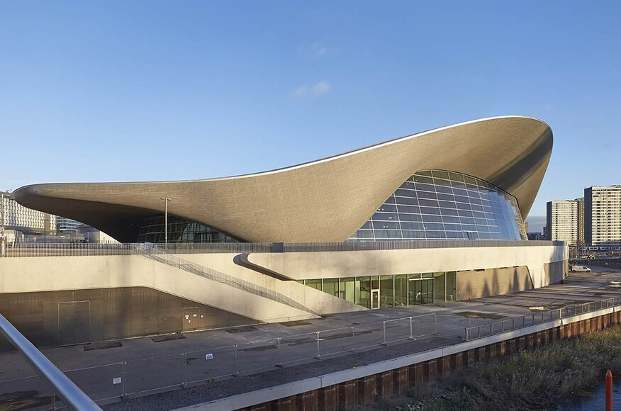 London Aquatics Centre Architect Magazine Zaha Hadid Architects London United Kingdom